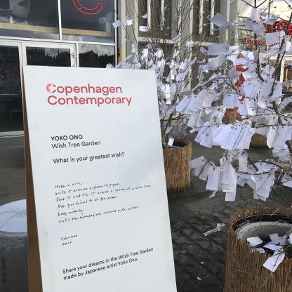 Yoko Ono installation outside Copenhagen Contemporary